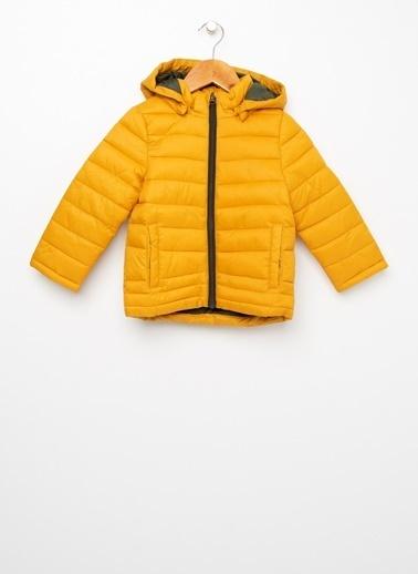 Name It Nmae It NMMMOVE %100 Polyester Hardal Çocuk Şişme Kapüşonlu Mont Sarı